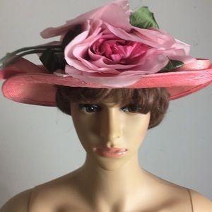 Jack McConnell Boutique pink floral hat for sale